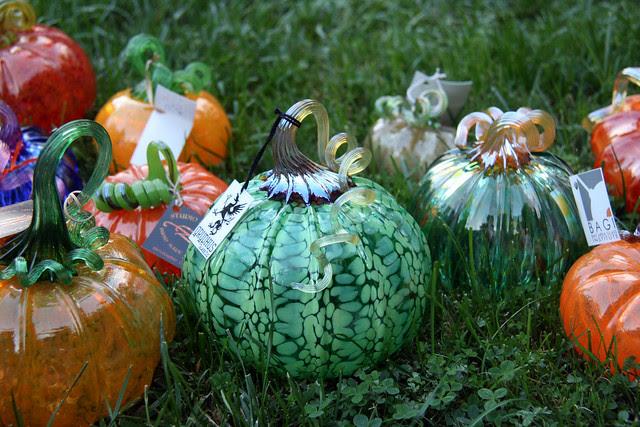 IMG_6041 Gryphus mottled green glass pumpkin