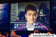 Harry Potter and the Goblet of Fire press conference in Japan: Daniel's video message