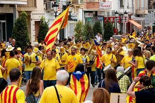 #ViaCatalana #11s2013 #Amposta #Tram49 Banda per la Independència