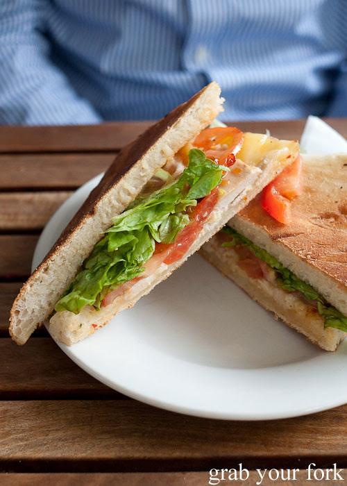 chilli chicken sandwich at Colombia Organik Sydney