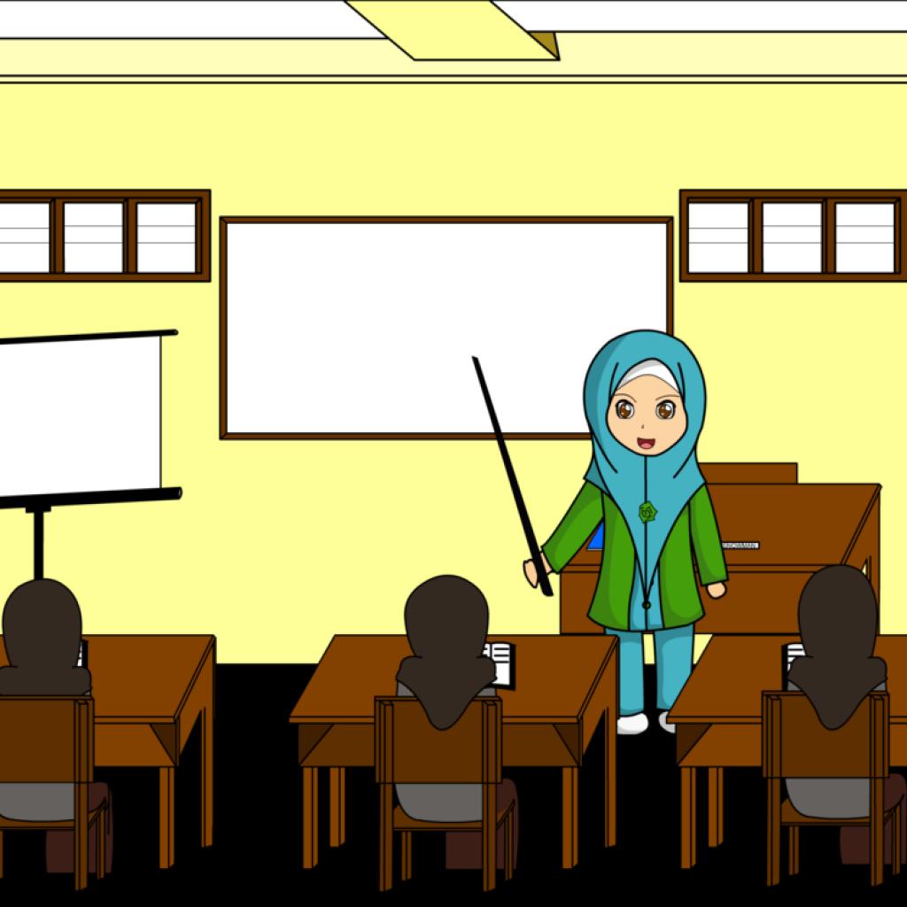 Gambar Karikatur Ibu Guru Sedang Mengajar Ideku Unik