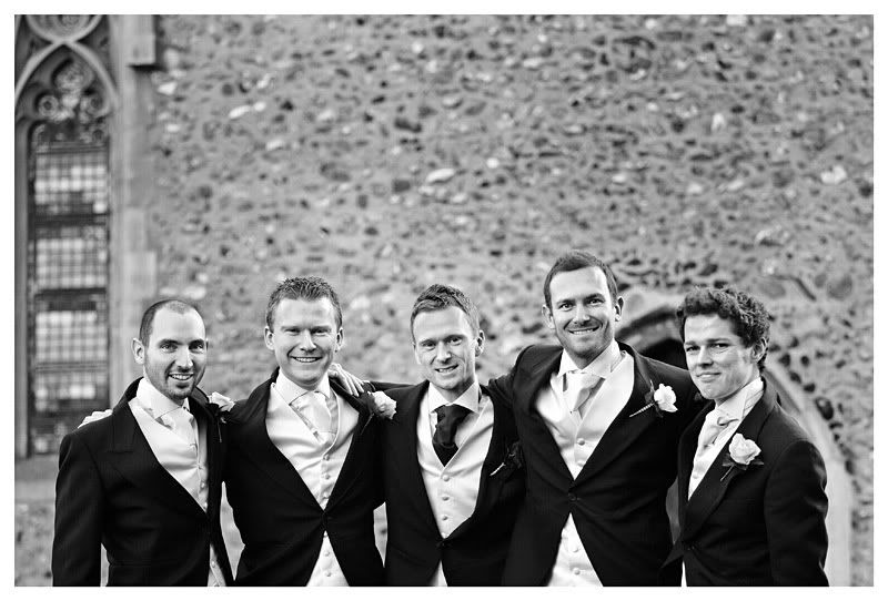Wedding photography at the Reid Rooms_Essex wedding photography_Phil Lynch Photographer, Groom and bestmen outside church