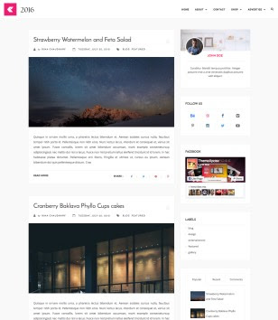 2016 Responsive Blogger Templates