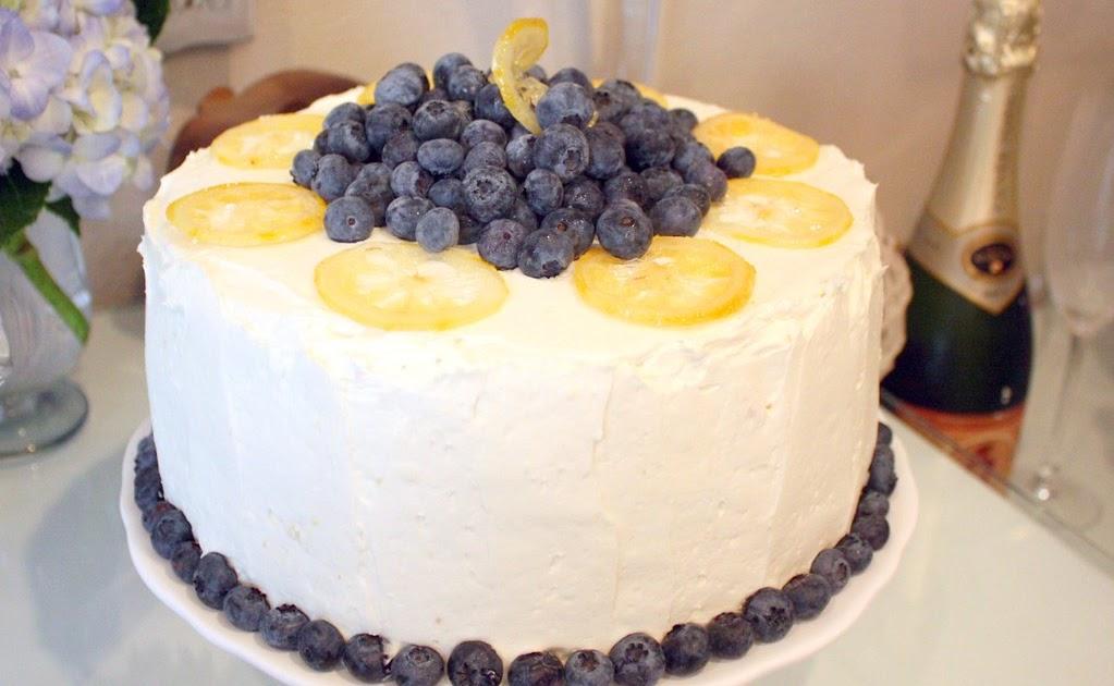 Martha Stewart Lemon Blueberry Layer Cake