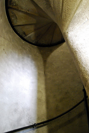 Spiral staircase to the top of Brock's Monument.
