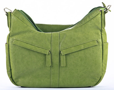 Kelly Moore Camera Bag B-Hobo Grassy - Front View Opened