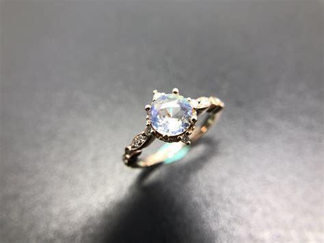 Vintage Rainbow Moonstone Engagement Ring ? Sunday Island