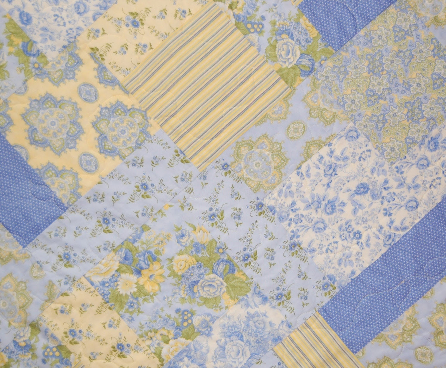 French Cozy Lap Quilt in Moda Nature's Notebook prints