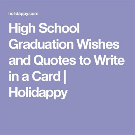 High School Graduation Wishes and Quotes to Write in a