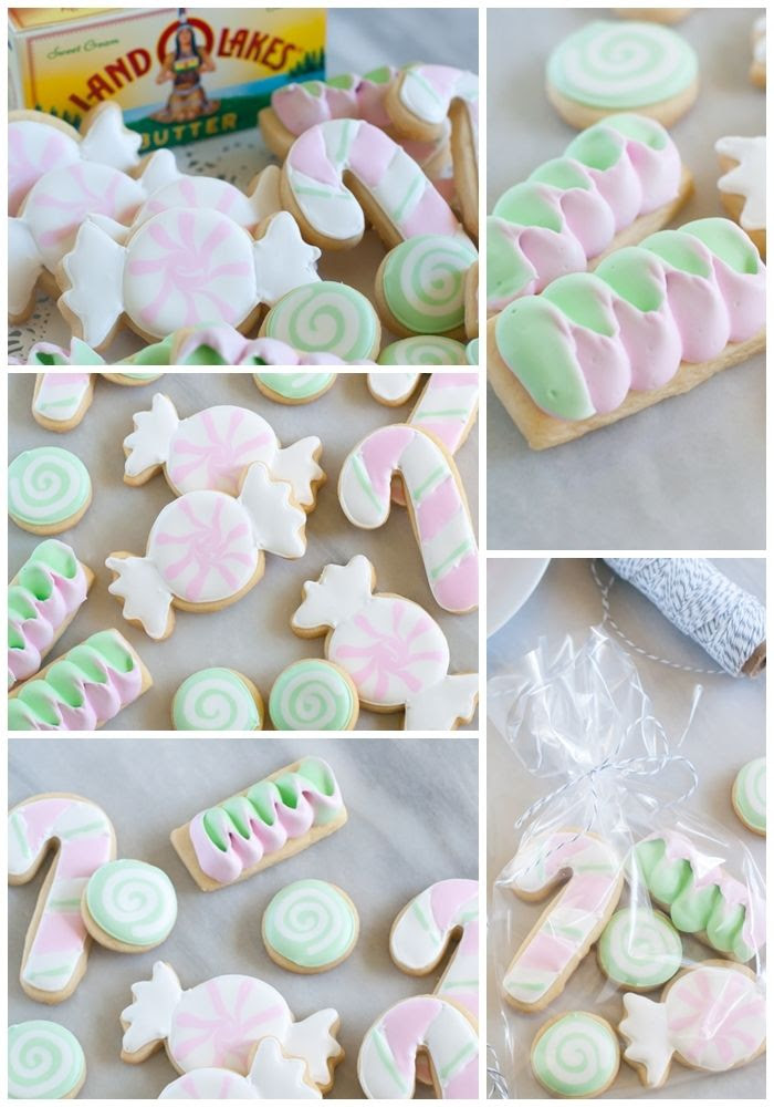 Butter Mint Cut-Out Candy Cookies, recipe + decorating tutorial