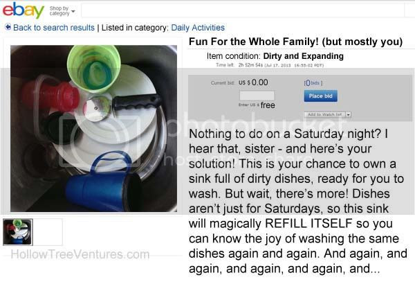 fake ebay listing dishes