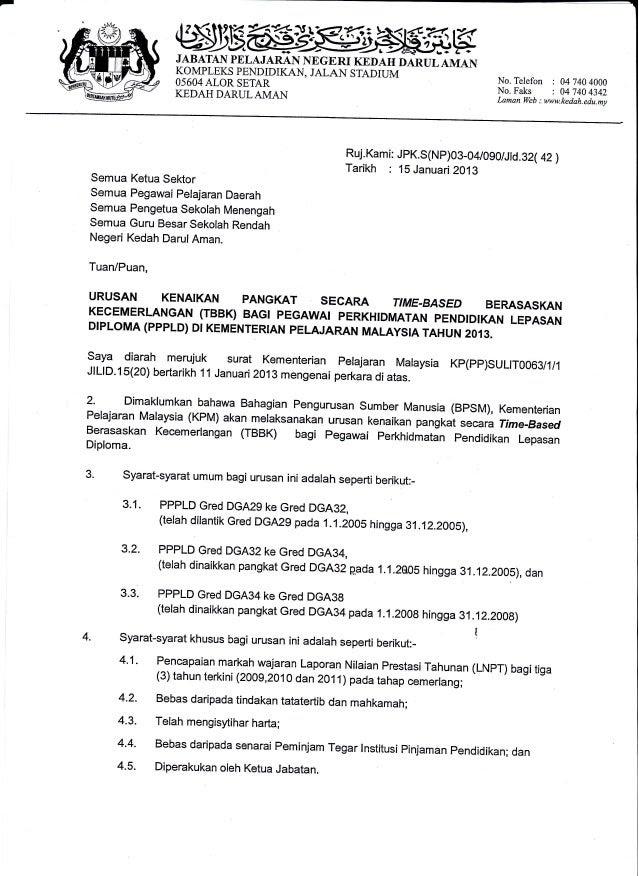 surat rasmi kenaikan gaji rasmi b