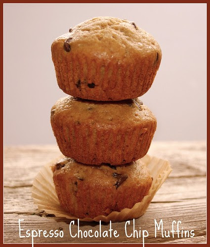 Espresso Chip Muffins stacked