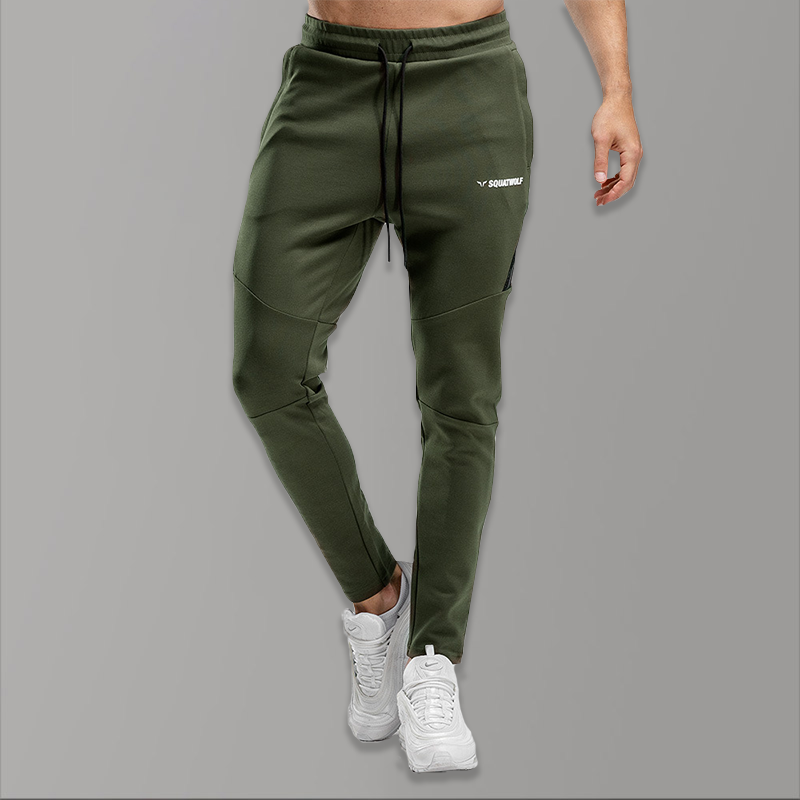 Solid Gym Track Pants Men Summer Black Sweatpants Men Fashions Cotton Skinny Sport Wear Pants Homme Bodybuilding Tactical