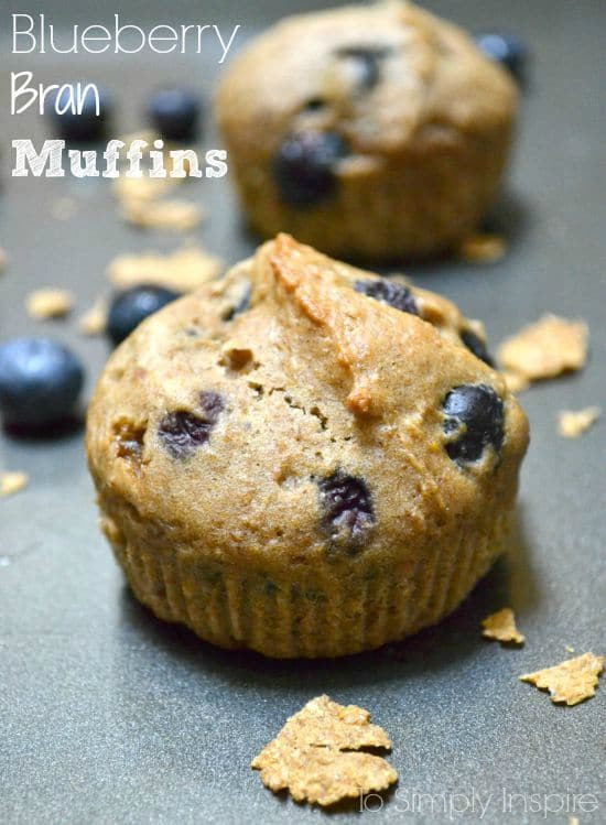 Blueberry Bran Muffins by To Simply Inspire