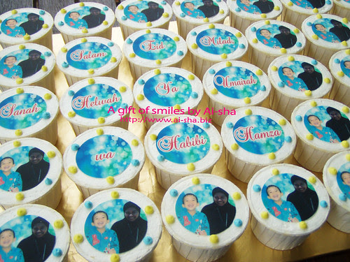 Birthday Cupcakes with Edible