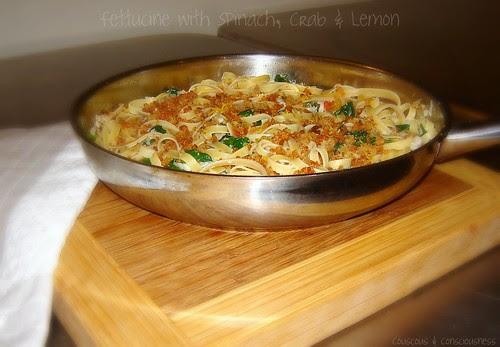 Fettucine with Spinach, Crab & Lemon 1