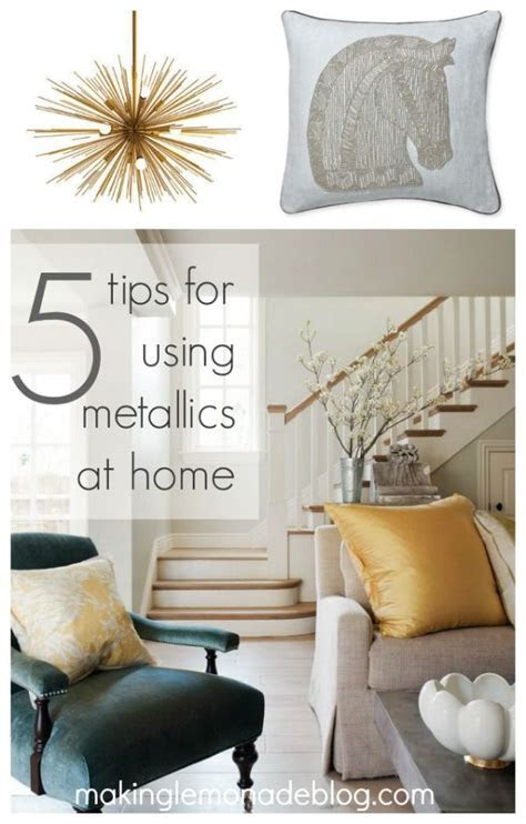 Mixed Metallics Home Decor : How to Mix Gold, Silver