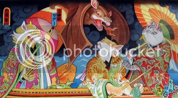 極彩色の鳥獣戯画浮世絵外国人が描く日本インスパイア絵画のズレが