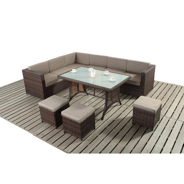 Funky Rattan Corner Dining Sofa Garden Furniture Set ...