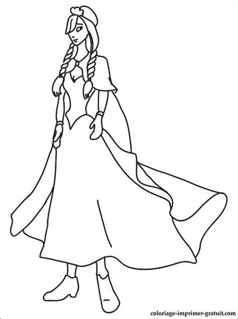 coloriage princesse anna  colorier coloriage  imprimer