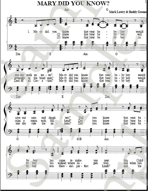 Mary Did You Know | Church Choir Music