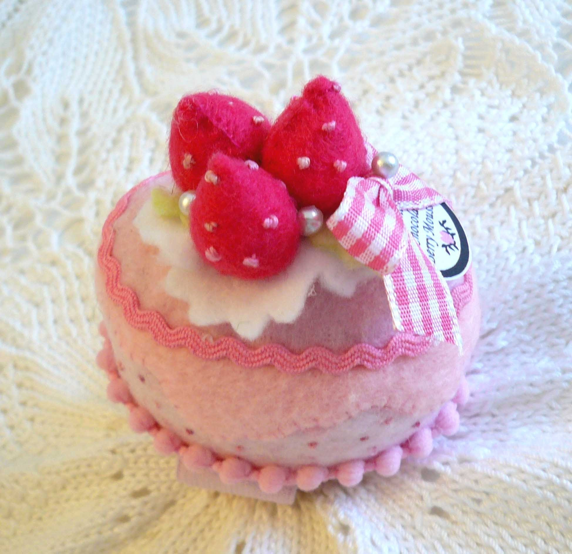 Pink choco berry mousse wrist band pin cushion
