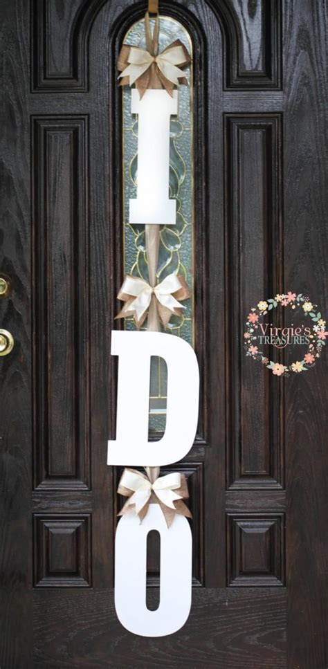 I DO Bridal Shower Door Decoration I DO Wooden Door Hanger