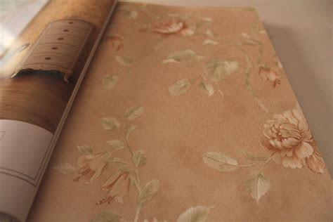 jual wallpaper bunga peach emas coklat tua gold vintage