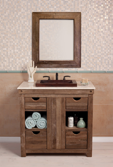 Chardonnay Vanity - traditional - bathroom vanities and sink ...