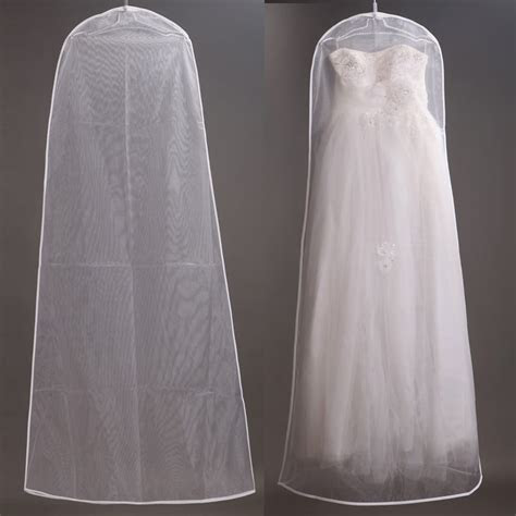 160cm Soft Tulle Wedding Dress Bags Clothes Cover Dust