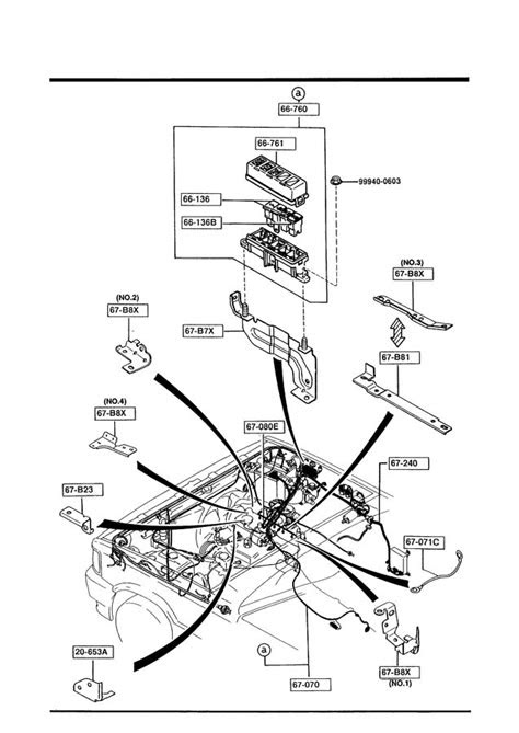 Mazda B2200 Block, main fuse. Harnessesengine - UB4066760