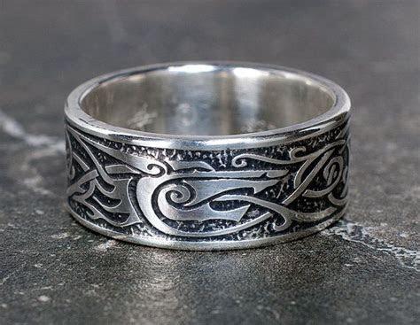 Viking Wolf Ring, Sterling Silver Viking Ring, Celtic Man