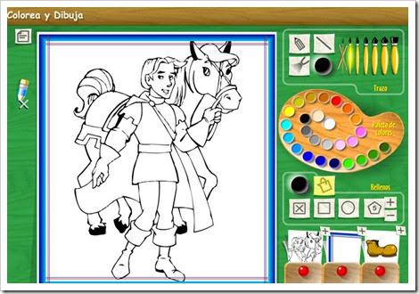 Colorea y dibuja