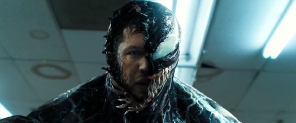 Tom Hardy plays Eddie Brock, a reporter who's infected with an alien Symbiote and takes on the bad guys in VENOM.
