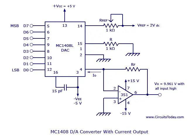 MC 1408 Digital to Analog Converter