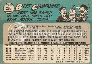 #266 Bert Campaneris (back)