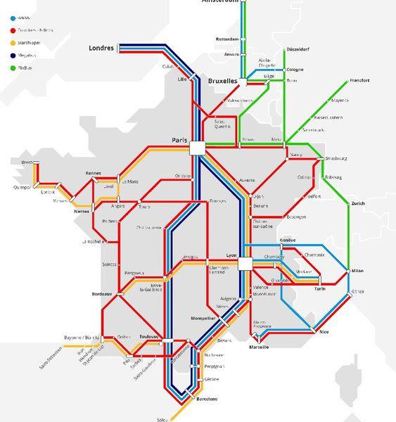 25 Meilleur Carte De France Ligne De Train