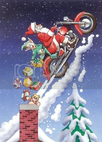 Santa Motorcycle Pictures, Images and Photos