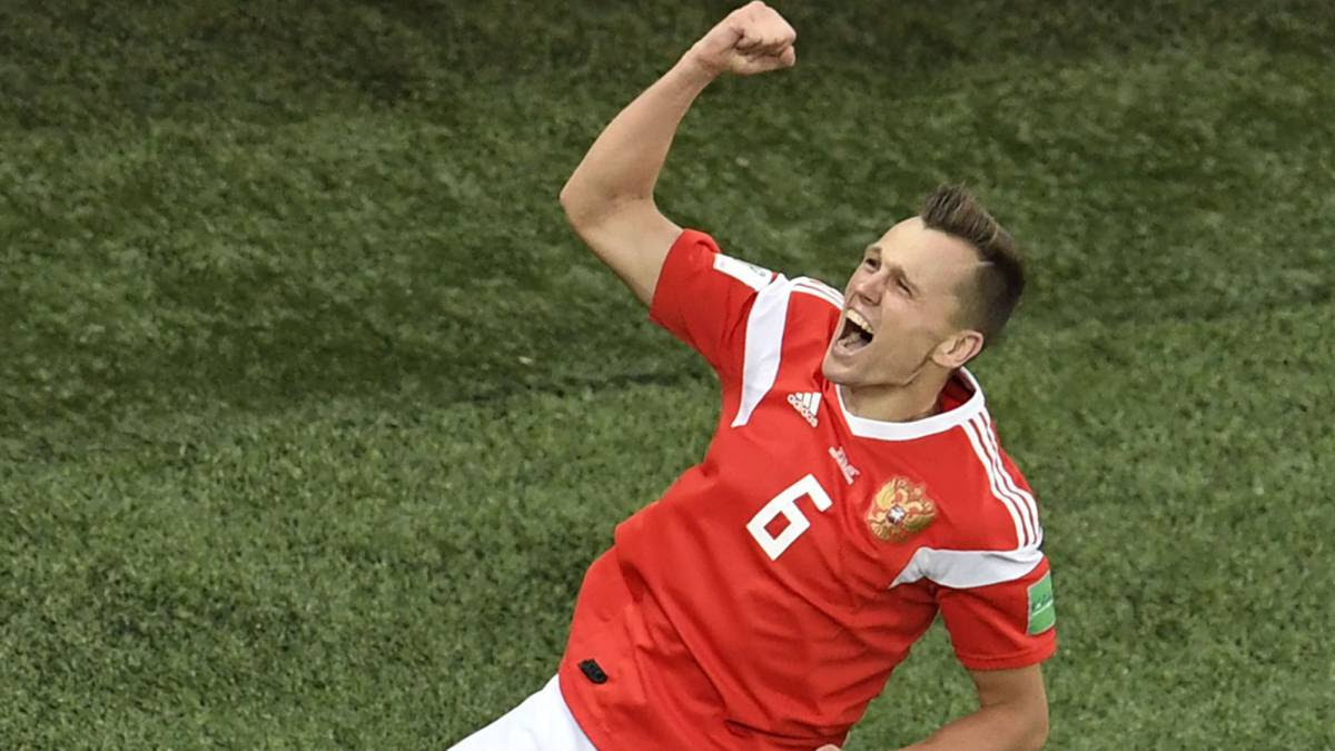 Russia 3 1 Egypt Group A World Cup Russia 2018 Goals Report Ascom