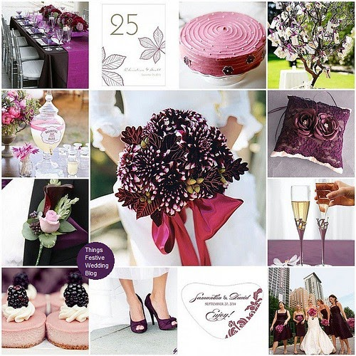 Eggplant And Red And Purple Wedding Ideas: Pink And Purple Fall Wedding Theme