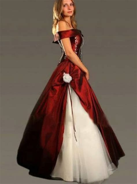 Wedding dresses gallery: red and black wedding dresses