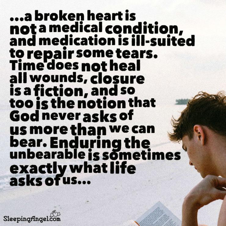 A Broken Heart Quote Sleeping Angel