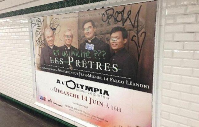 L'affiche qui fait polémique. Monseigneur Di Falco regrette que n' apparaisse pas, dans l'annonce de ce concert, la mention