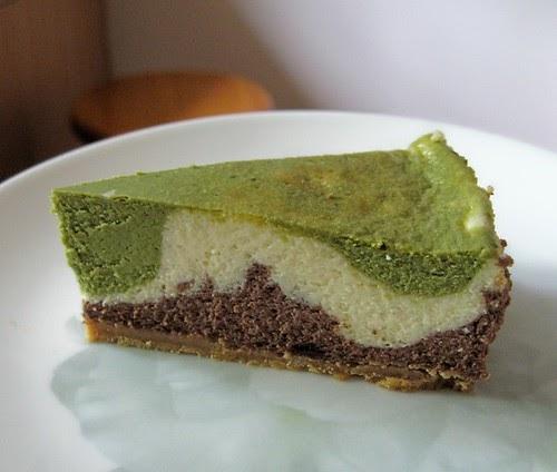 Dark Chocolate Cheesecake With Matcha