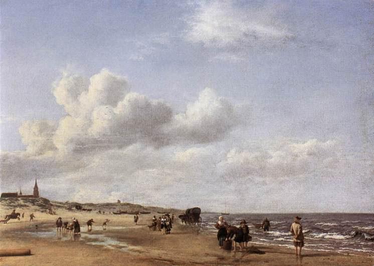 Adriaen van de Velde, Strand bei Scheveningen; 1669