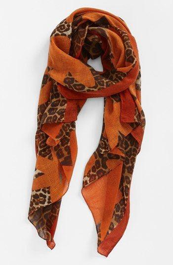 Tasha 'Leopard Flower' Scarf | Nordstrom