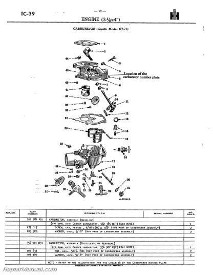 33 Farmall H Carburetor Diagram