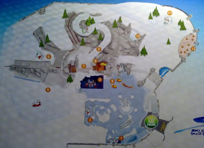 Detail Location Map of Ski Dubai for Travelers Reference,Ski Dubai Snow Park Location Map