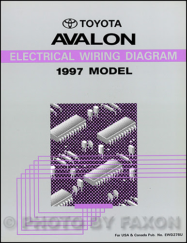1997 Toyota Avalon Electrical Wiring Diagram Manual NEW ...